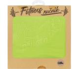 Albi Fitness ručník Výzva přijata zelený 90 x 50 cm