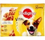 Pedigree Adult Hovězí a drůbeží maso v želé kapsa pro dospělé psy 100 g x 4 kusy