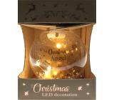 Epee Anděl zlatý zářivá ozdoba s LED - Christmas Angel na zavěšení 6 cm