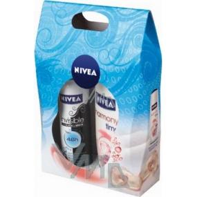 Nivea Kazpure sprchový gel 250 ml + antiperspirant sprej 150 ml, pro ženy kosmetická sada