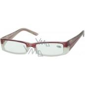 Berkeley Čtecí dioptrické brýle +1 vínové proužky CB02 1 kus MC2036