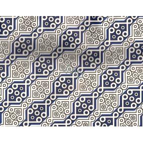 Nekupto Dárková kraftová taška malá 242 CM Modro bílé ornamenty 23 x 18 x 10 cm