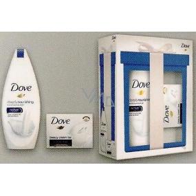 Dove Original Mini Deeply Nourishing vyživující sprchový gel 250 ml + Dove krémová tableta 100 g, kosmetická sada