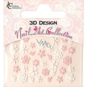 Absolute Cosmetics Nail Art 3D nálepky na nehty 24924 1 aršík