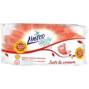 Linteo Baby Soft & Cream vlhčené ubrousky pro děti 120 kusů