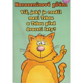 Albi Hrací přání do obálky K narozeninám Nonstop Michal David 14,8 x 21 cm