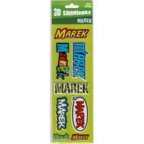 Nekupto 3D Samolepky se jménem Marek 8 kusů 044