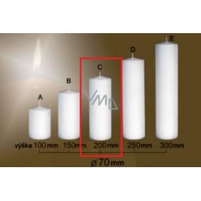 Lima Gastro hladká svíčka bílá válec 70 x 200 mm 1 kus