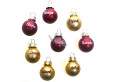 Albi Vánoční koulička červená Andrea 2 cm