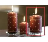Lima Srdíčko potisk svíčka starorůžová válec 70 x 100 mm 1 ks