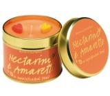 Bomb Cosmetics Nektarinka a Amareto Vonná přírodní, ručně vyrobena svíčka v plechové dóze hoří až 35 hodin