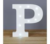 Nekupto Dřevěné LED písmeno P dekorace 16 cm NLE 016