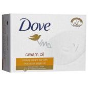 Dove Cream Oil Moroccan Argan Oil krémové toaletní mýdlo s arganovým olejem 100 g