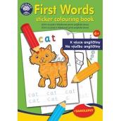 Ditipo Omalovánky se samolepkami První anglická slova k výuce angličtiny pro děti 4+ 24 stran