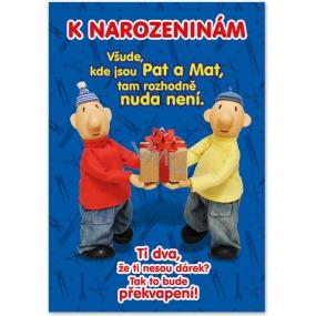 Ditipo Hrací přání k narozeninám originální melodie z večerníčku Pat a Mat 224 x 157 mm