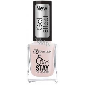 Dermacol 5 Day Stay Gel Effect dlouhotrvající lak na nehty s gelovým efektem 26 Satiné 12 ml