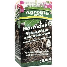 AgroBio Harmonie Stimulátor zakořeňování s aktivním stříbrem, zesiluje rostliny a podporuje tvorbu kořenů 50 ml