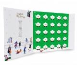 English Tea Shop Bio Adventní kalendář ve tvaru knihy zelený, 25 kusů pyramidek sypaného čaje, 13 příchutí, 50 g, dárková sada
