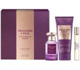 Abercrombie & Fitch Authentic Night Woman parfémovaná voda pro ženy 100 ml + tělové mléko 200 ml + parfémovaná voda 15 ml, dárková sada