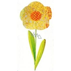 Květina velká žlutá proplétaná 49 cm