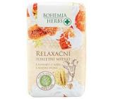 Bohemia Gifts Med a Kozí mléko relaxační jemné toaletní mýdlo 100 g