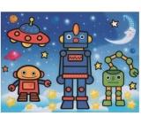 Malování vodou se štětcem Roboti 20 x 15 cm