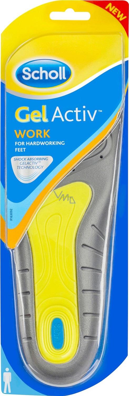 a9776fcb6881 Scholl Gel Activ Work gelové vložky do bot do práce pro muže velikost 40-46