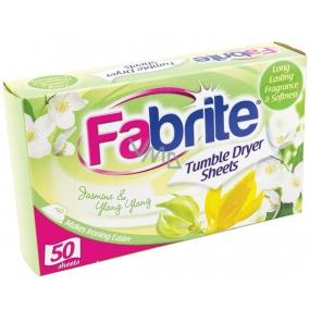 Fabrite Jasmine & Ylang Ylang vůně do sušičky ubrousky 50 kusů