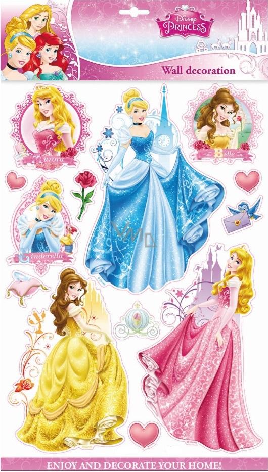 Room Decor Disney Princess 3d Wall Stickers 40 X 29 Cm Vmd Parfumerie Drogerie