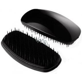 Detangler Soft Brush Black rozčesávací kartáč černý 11,5 cm