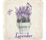 Bohemia Gifts Lavender květináč s motýly dekorativní kachlík 10 x 10 cm