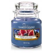 Yankee Candle Mulberry & Fig Delight - Lahodné moruše a fíky vonná svíčka Classic malá sklo 104 g