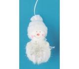 Sněhulák na pověšení 9 cm