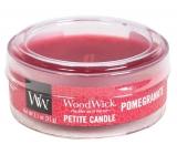 WoodWick Pomegranate - Granátové jablko vonná svíčka s dřevěným knotem petite 31 g