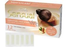 Joanna Sensual Almond depilační pásky na obličej pro normální pleť 12 kusů
