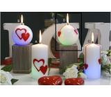 Lima Valentýnská magická svíčka Srdce koule 80 mm 1 kus
