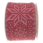 Ditipo Nordic Stuha červená bílé vločky 2 m x 40 mm