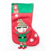 Xmas Skřítek / Santa punčocha vánoční se skřítkem nebo santou na dárky 1 kus