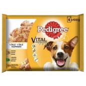 Pedigree Vital Protection s kuřecím masem, s jehněčím masem v želé kapsička 4 x 100 g