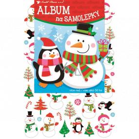 Album na samolepky hologram vánoční 16 x 29 cm + 50 kusů samolepek