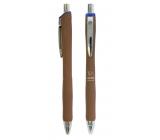 Spoko Panther Nature kuličkové pero, Easy Ink, hnědé, modrá náplň 0,5 mm