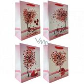Emocion Dárková papírová taška 180 x 230 mm Srdce, strom 1 kus