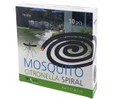 Mosquito Repellent Incense spiral repelentní spirála s citronelou proti komárům 1,5 x 26,5 cm 10 kusů TR C356