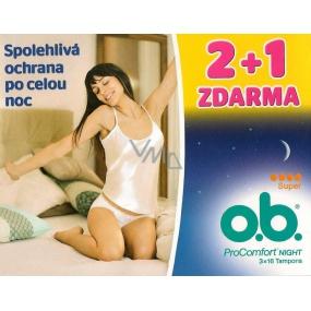 o.b. Pro Comfort Night Super tampony 3 x 16 kusů