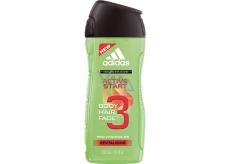 Adidas Active Start 3v1 sprchový gel na tělo, tvář a vlasy pro muže 250 ml