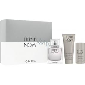 Calvin Klein Eternity Now Man toaletní voda 100 ml + sprchový gel 100 ml + deodorant stick 75 ml, dárková sada