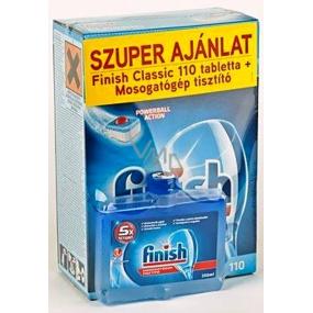 Finish Classic Powerball tablety do myčky nádobí 110 kusů + Finish čistič myčky 250 ml