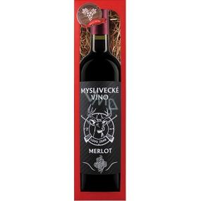 Bohemia Merlot Myslivecké víno Lovu zdar červené dárkové víno 750 ml