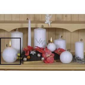 Lima Alfa Mrazivý efekt svíčka bílá koule 100 mm 1 kus
