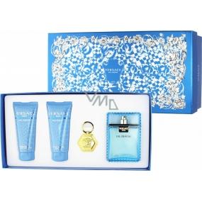 Versace Eau Fraiche Man toaletní voda 100 ml + sprchový gel 100 ml + balzám po holení 100 ml + přívěšek na klíč, dárková sada